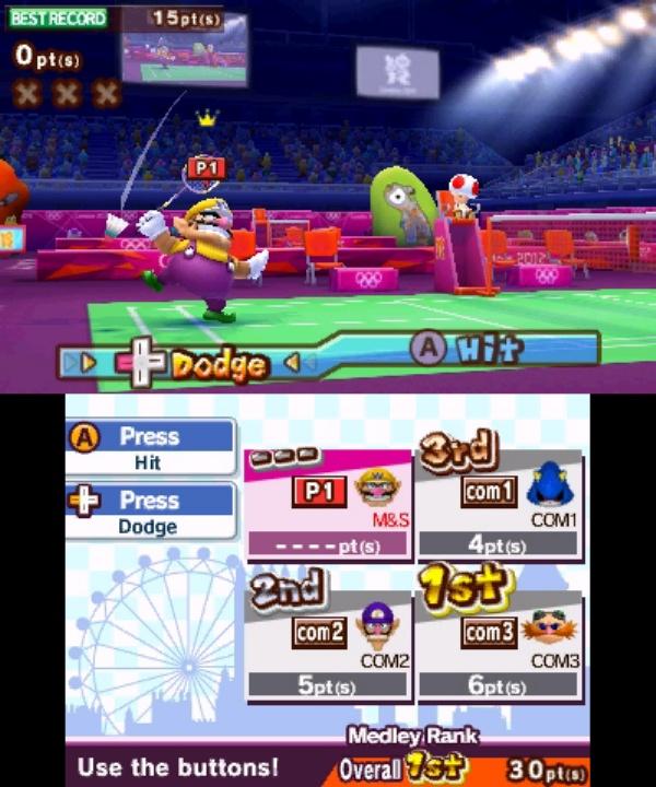 Mario & Sonic at the London 2012 Olympic Games screenshot 2