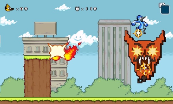Regular Show: Mordecai and Rigby In 8-Bit Land screenshot 1