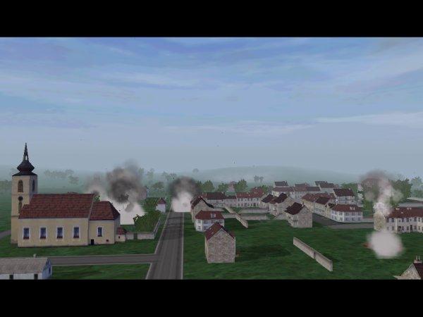 Town under fire