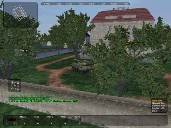 Tank in town