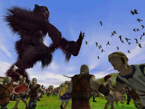 Evil ape on the warpath