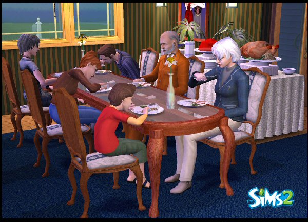 The Sims at Thanksgiving