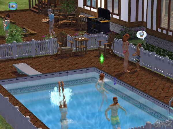 Family pool party