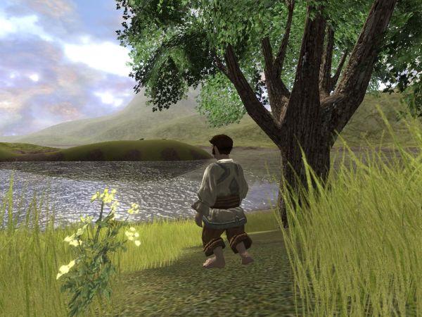 A Hobbit enjoys nature