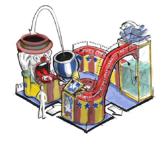 Fun house concept sketch