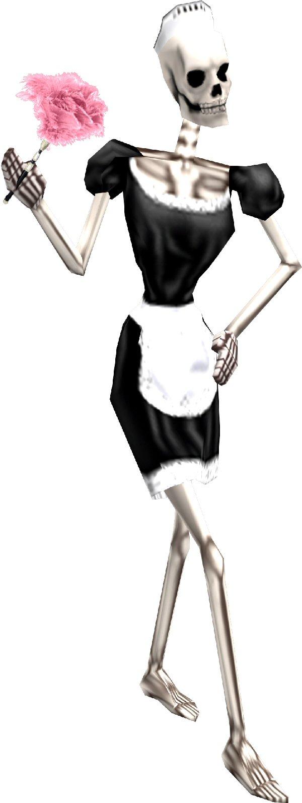 Skeleton maid