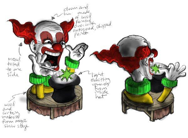 Magic clown concept sketch