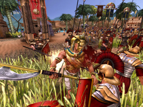 Romans and Egyptians clash