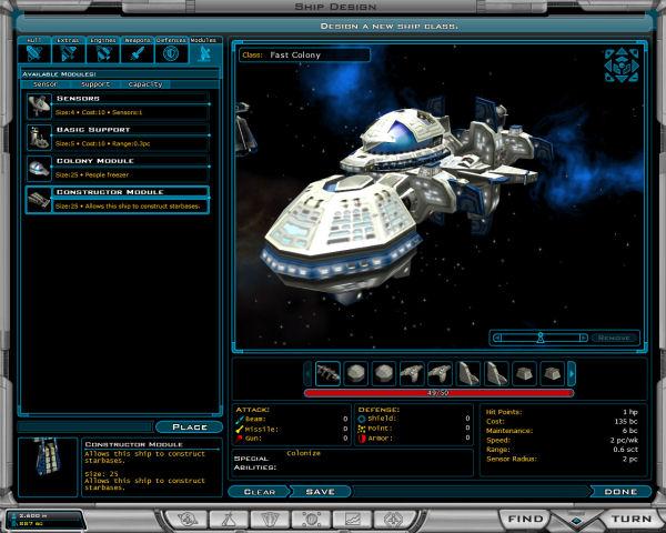 Fast colony ship