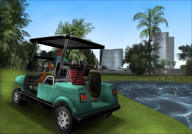 Grand Theft Auto: Vice City Screenshot 9 - PlayStation 2 - The ... on golf cart dui, golf cart accidents, golf cart injury, golf cart pimping, golf cart fatalities, golf cart pranks, golf cart explosion, golf cart arrest, golf cart security devices, golf cart conversion, golf cart collision, golf cart disasters,