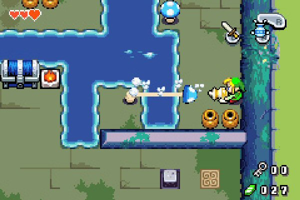 Link has a gun
