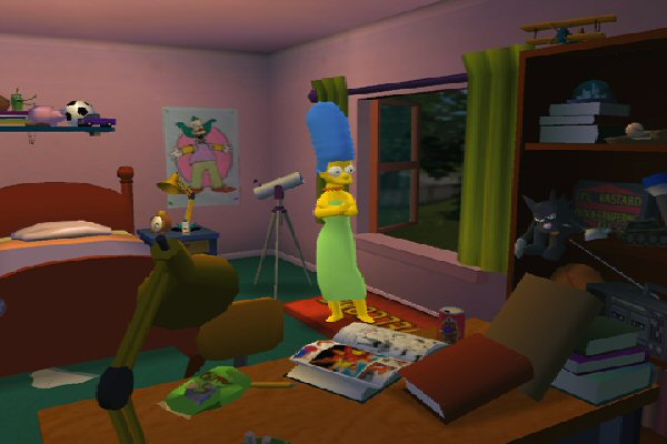 Bart's room is a mess